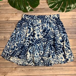 Torrid Blue Pattern Flowy Skirt